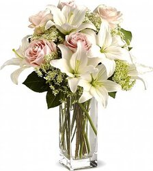 Delicate roses and lilies