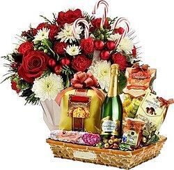Mazzo Di Fiori E Spumante.Festa Per Natale 138 Mazzi E Bouquet Di Fiori A Domicilio